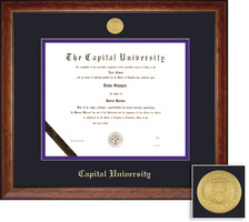 Framing Success Lansdowne Diploma Frame in a Birdseye Maple with Black Trim
