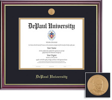 Framing Success Windsor PhD Law Diploma Frame in Gloss Cherry Finish and Gold Trim