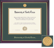 Framing Success Windsor BA MA Diploma Frame in Gloss Cherry Finish and Gold Trim