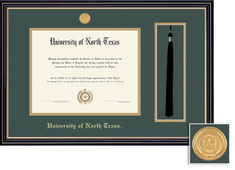 Framing Success Prestige Diploma Tassel Frame Dbl Matted Black Finish, Gold Trim. Bachelors, Masters