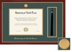 Framing Success Regal BA MA Tassel Diploma Frame in Cherry Finish with Gold Accents