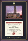 Framing Success Windsor Photo Diploma Frame in High Gloss Cherry Finish and Gold Trim