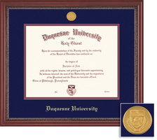Framing Success Grandeur Doctorate Diploma Frame with a Mahogany Finish & Carved Inner Border