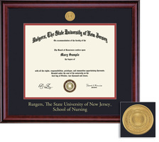 Framing Success Classic Nursing Diploma Frame With Medallion In Burnished Cherry Finish