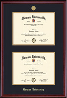 Framing Success Classic Double Diploma Frame in Burnished Cherry Finish