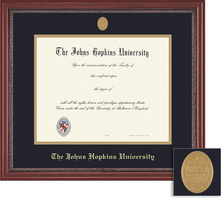 Framing Success Grandeur Diploma Frame with Medallion in Mahogany Finish and Carved Inner Border