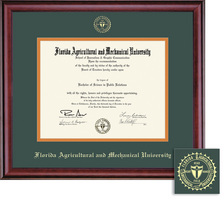 Framing Success Classic BA MA Diploma Frame,Double Matted in a Burnished Cherry Finish