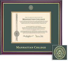 Framing Success Windsor Diploma Frame, Double Matted in a Gloss Cherry Finish, Gold Trim