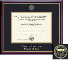 Framing Success Windsor Law Diploma Frame, Double Matted in Gloss Cherry Finish, Gold Trim