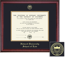 Framing Success Classic Law Diploma Frame, Double Matted in Burnished Cherry Finish