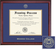 Framing Success Classic BA Diploma Frame,Double Matted in a Burnished Cherry Finish