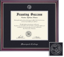 Framing Success Jefferson Diploma Frame Double Matted in HighGloss Cherry Finish with Silver Trim