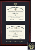 Framing Success Classic Double Diploma Frame, Single Matted in a Burnished Cherry Finish