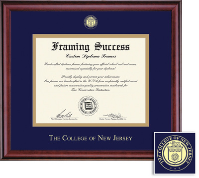 Framing Success Classic Diploma Frame, Double matted in a burnished cherry finish.