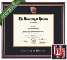 Framing Success Windsor Mdl Diploma Frame, Dbl Matted in gloss cherry finish, gold trim