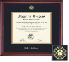 Framing Success Classic Diploma Frame, Dbl Mat in Rich Burnished Cherry Finish. Assoc