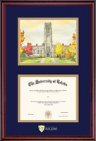 Framing Success Classic Dip, Litho Frame. Dbl Matted in a Cherry Finish. Masters, Doctorate, or Law