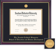 Framing Success BA, Edu., Human Dvlp. Wind Mdl, Dbl Mat in high gloss cherry finish & gold bevel