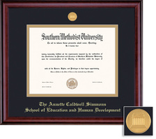 Framing Success BA, Edu., Human Dvlp. Classic Mdl Dip, Dbl Mat in rich burnished cherry finish