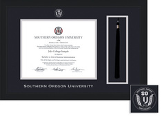 Framing Success Spirit Diploma, Tassel Frame in Contemporary Black Matte Finish, Angeled Inner Edge