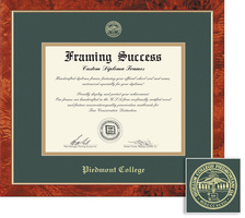 Framing Success Traditional Diploma Frame, Dbl Matted in Burled Walnut Finish with a Gold Border