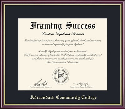 Framing Success Academic Diploma Frame in High Gloss Cherry Finish w Gold Inner Bevel, Slim Contour