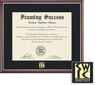 Framing Success Academic Diploma Frame, Single Mat in High Gloss Cherry Finish with Gold Inner Bevel