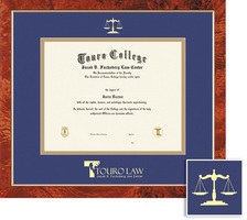 Framing Success Traditional Diploma Frame, Double Mat in a Burled Walnut Finish with a Gold Border