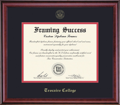 Framing Success Classic Diploma Frame, Double Mat in a Rich Cherry Burnished Finish
