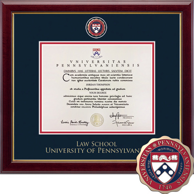 Church Hill Classics Masterpiece Diploma Frame Law (Online Only)
