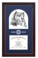 Always a Lion Mahogany Wood Finished Diploma Frame with Medallion and Double Mat (31 x  23)