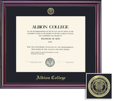 Framing Success Elite Diploma Frame, Dbl Mat in a Lustrous Cherry Finish with a High Gloss Coating