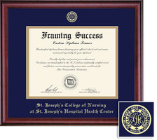 Framing Success Classic Diploma Frame, Double Mat in a Rich Burnished Cherry Finish. Nursing