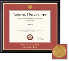 Framing Success Windsor (Cherry Finish) and Prestige (Black Finish) School of Law Diploma Frame