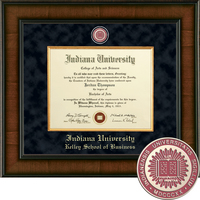 Church Hill Classics Presidential Diploma Frame.  Kelley School of Business (Online Only)