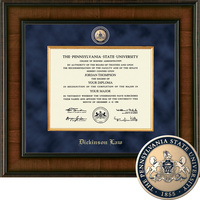 Church Hill Classics Presidential Diploma Frame.  Dickinson Law