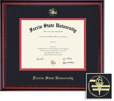 Framing Success Classic Pharm,Opt Dip, Dbl Mat in rich burnishedcherry finish