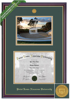 Framing Success Windsor Diploma, Photo Frame with Medallion, Dbl Mat in High Gloss Cherry Finish
