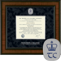 Church Hill Classics Presidential Diploma Frame Teachers College (Online Only)
