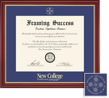 Framing Success Regal Diploma Frame, Double Mat in a Elegant Cherry Finish, Impressive Gold Accents