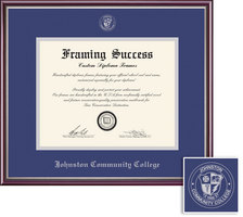 Framing Success Scholastic Diploma Frame, Royal Dbl Mat in a High Gloss Cherry Finish