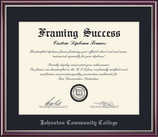 Framing Success Scholastic Diploma Frame, Dark Black Single Mat in High Gloss Cherry Finish