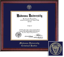 Framing Success Diploma Frame, Double Mat in a Rich Burnished Cherry Finish. Criminal Justice