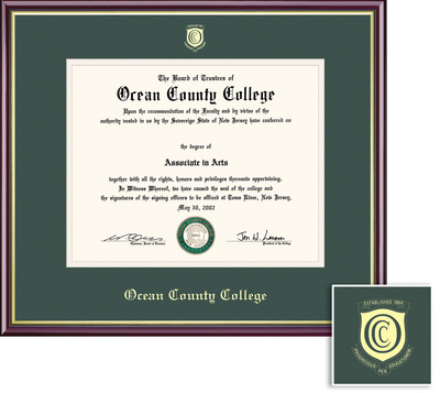 Ocean County College Bookstore - Framing Success Academic Diploma ...