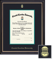 Framing Success Prestige Diploma Frame, Double Mat, Satin Black Finish with Beautiful Gold Accents