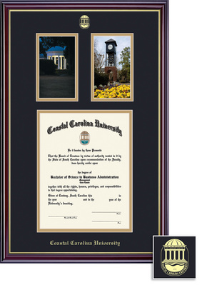 Framing Success Classic Diploma Frame, Photos Frame, Double Mat in a High Gloss Cherry Finish
