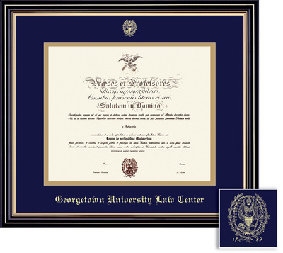 Framing Success Prestige Law Diploma Frame, Double Mat, Satin Black Finish, Beautiful Gold Accents