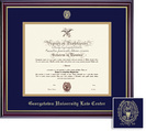 Framing Success Windsor Law Diploma Frame, Double Mat, High Gloss Cherry Finish, Gold Inner Bevel