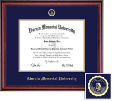 Framing Success Classic Diploma Frame, Double Mat in a Rich Burnished Cherry Finish. Masters