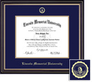 Framing Success Prestige Diploma Frame, Dbl Mat, Satin Black Finish, Beautiful Gold Accents. Masters
